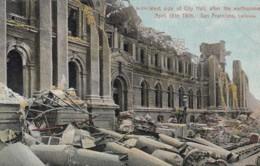 San Francisco California, 1906 Earthquake Damage, City Hall Ruins, C1900s Vintage Postcard - San Francisco