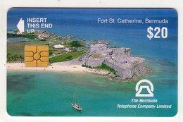 BERMUDES REF MV CARDS BER-C-04 20$ FORT SAINTE CATHERINE DATE 1993 - Bermuda