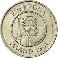 Monnaie, Iceland, Krona, 1981, TTB, Copper-nickel, KM:27 - Islande