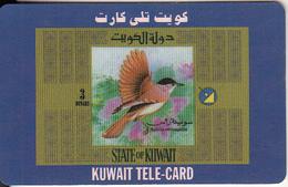 KUWAIT - Bird, Sylvia Africapilla, Sprint Prepaid Card KD 3(large Letraset CN At Right), Used - Koweït