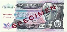 Zaire - 20 000 Zaïres - 1.7.1991 - Unc. - Pick 39.s -  SPECIMEN - Mobutu - 20000 - Zaire