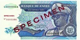 Zaire - 200 000 Zaïres - 1.3.1992 - Unc. - Pick 42.s -  SPECIMEN - Mobutu - 200000 - Zaire