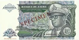 Zaire - 100 000 Zaïres - 4.1.1992 - Unc. - Pick 41.s -  SPECIMEN - Mobutu - 100000 - Zaire