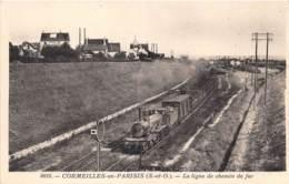 VAL D'OISE  95  CORMEILLES EN PARISIS - LA LIGNE DE CHEMIN DE FER - TRAIN - Cormeilles En Parisis