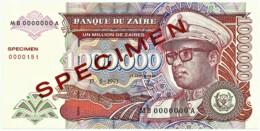 Zaire - 1 000 000 Zaïres - 17.5.1993 - Unc. - Pick 45.s -  SPECIMEN - Mobutu - 1000000 - Zaire