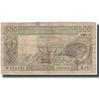 Billet, West African States, 500 Francs, KM:706Kg, TB - Westafrikanischer Staaten