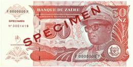 Zaire - 50 Nouveaux Zaïres - 15.2.1994 - Unc. - Pick 30.s -  SPECIMEN - Mobutu - Zaire