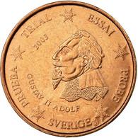 Suède, Fantasy Euro Patterns, 2 Euro Cent, 2003, SUP, Cuivre - EURO