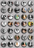 Sophia Loren Movie Film Fan ART BADGE BUTTON PIN SET 1  (1inch/25mm Diameter) 35 DIFF - Cine