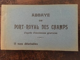 """15 CPA (anciennes Gravures), Carnet """" ABBAYE DE PORT-ROYAL DES CHAMPS,éd David, RELIGION (abb. Cistercienne) 78 Yvelines - Magny-les-Hameaux"""
