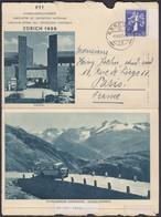 1939 LANDESAUSTELLUNG /  OFFIZIELLE FALT KARTE MIT NR 239 FRANKIERT - Suisse