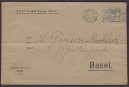 NICHT BESTELLBARER BRIEF  /  BASEL FRANCO STEMPEL 1919 - Franchise