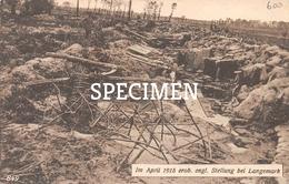 Im April 1915 Erob. Engl. Stellung Bei Langemark - Langemark-Poelkapelle