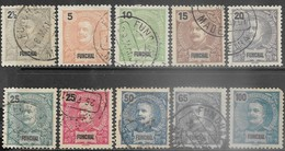 Funchal  1897-9   9 Diff  Used To The 65c & 100c MH (corner Fault)  2016 Scott Value $11.10 - Funchal