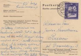 GG: Postkarte Mit 12Gr. Von Lemberg Nach Rzeszow 1942 - Besetzungen 1938-45