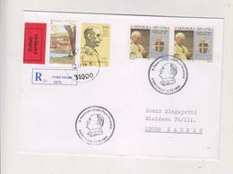 CROATIA 1998 OSIJEK Nice Registered  Cover POPE JOHN PAUL II - Croacia