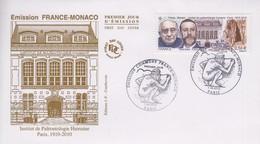 Enveloppe  FDC  1er  Jour   FRANCE   Emission  Commune   FRANCE - MONACO    2010 - 2010-....