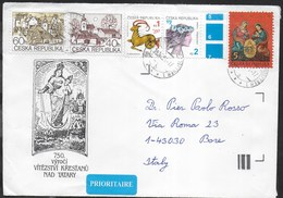 REPUBBLICA CECA - BUSTA PLURIAFFRANCATA 2001  PER L'ITALIA - Lettres & Documents