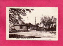 28 Eure Et Loir, ESCORPAIN, Route De Roissy-en-Drouais, Mairie Et Ecole, 1963, (M. Aube) - France