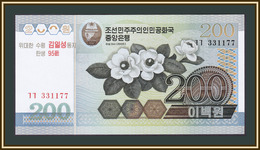 North Korea 200 Won 2007 P-54 UNC (SN 331177) - Korea, Noord