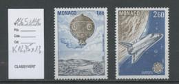 Europa CEPT 1983 Monaco Y&T N°1365 à 1366 - Michel N°1579A à 1580A *** - Dentelé 13 - Europa-CEPT