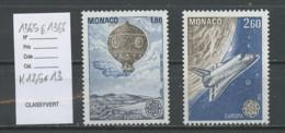 Europa CEPT 1983 Monaco Y&T N°1365a à 1366a - Michel N°1579C à 1580C *** - Dentelé 12,75x13 - Europa-CEPT