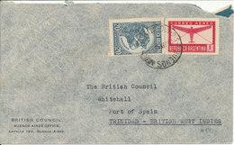 Argentina Air Mail Cover Sent To Trinidad 30-6-1945 - Poste Aérienne