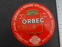 Etiquette De Camembert  Orbec Lanquetot - Cheese