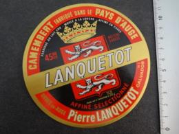 Etiquette De Camembert Lanquetot - Cheese