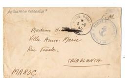 B16  03 03 1945 Lettre FM Du Sous Marin Archimède - Marcophilie (Lettres)