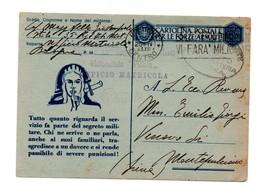 CARTOLINA POSTALE PER LE FORZE ARMATE 1941 E 1943 UFFICIO MATRICOLA BOLOGNA - 1900-44 Vittorio Emanuele III