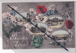 Souvenir De Laval (53) Multivues Avec Bouquet De Fleurs - Laval
