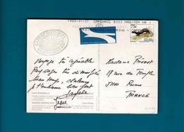 TP Afrique Du Sud 75 C Poecologale Albinichia & Vignette By Airmail Cpa  Cape Peninsula - Lettres & Documents