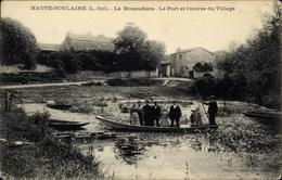Cp Haute-Goulaine Loire Atlantique, La Bonaudiere, Le Port Et L'entree Du Village - Francia
