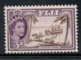 Fiji 1954-56 QEII Pictorial 3d MLH - Fiji (1970-...)