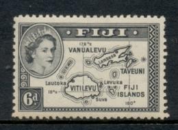Fiji 1954-56 QEII Pictorial 6d MLH - Fiji (1970-...)