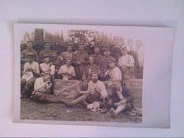 Belgische Zucht. 1914/1915. Entlassung. Gruppenbild. Flandern. Belgien. AK. - Militaria