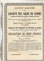 69-EAUX DE COURS. SA DITE STE DES ...   COURS - Autres