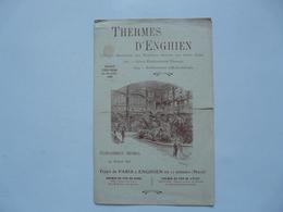 VIEUX PAPIERS - PUBLICITE : Thermes D'Enghien - Tarif Des Bains Et Douches - Reclame