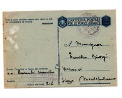 CARTOLINA POSTALE PER LE FORZE ARMATE CORAZZERIA CENTAURO TATTICO 1943 - 1900-44 Vittorio Emanuele III