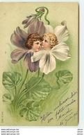 N°9749 - Surréalisme - Têtes D'enfants Dans Des Fleurs - MSIB 12923 - Fantasia