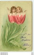 N°9747 - Surréalisme - Têtes D'anges Dans Des Tulipes - MSIB 12923 - Fantasia