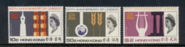 Hong Kong 1966 UNESCO 10c MLH, 50c, $2 MUH - Hong Kong (...-1997)