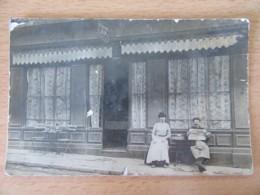 Lyon / Villeurbanne - Café Du Centre / Café Antoine - Devanture - Carte Photo Animée, Circulée En 1908 - Cafés