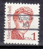 USA Precancel Vorausentwertung Preo, Locals North Dakota, Voltaire 843 - Voorafgestempeld