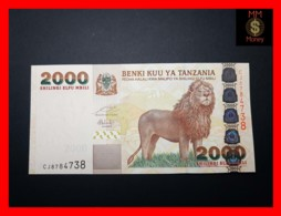 TANZANIA 2.000 2000 Shilingi 2009 P. 37 B  UNC - Tanzanie