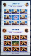 NATIONS-UNIS  GENEVE                  N° 321/322     2 FEUILLES                      NEUF** - Unused Stamps