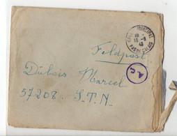 B16  18 08 1943 Lettre+ Courrier Pour Un STO Feldpost 57208 - 1921-1960: Periodo Moderno