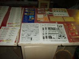 Tintin  Lot D'anciens Papiers Publicitaires + De 50 Piéces - Livres, BD, Revues