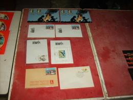 Tintin  Philatélie  8  Piéces - Livres, BD, Revues